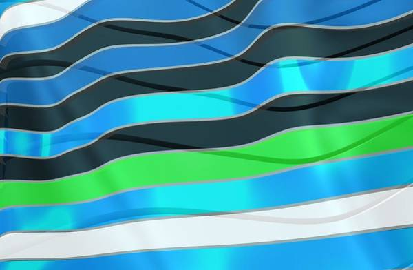Digital Art - Blue Waves Fashion by Alberto RuiZ