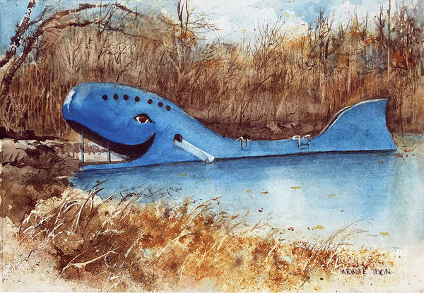 Painting - Blue Whale by Monte Toon
