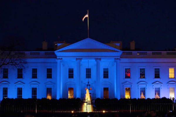 Photograph - Blue White House by Chris Montcalmo