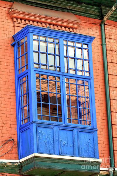 Photograph - Blue Window Bogota by John Rizzuto