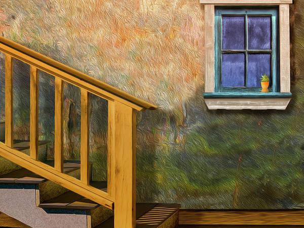 Photograph - Blue Window Sill by Paul Wear