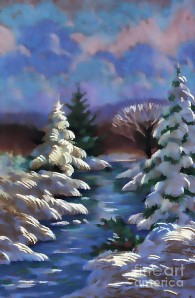 Digital Art - Blue Winter by D Hackett