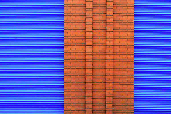 Photograph - Blue With Bricks by Stuart Allen