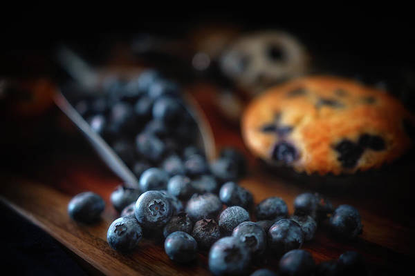 Wall Art - Photograph - Blueberries And A Muffin by Marnie Patchett