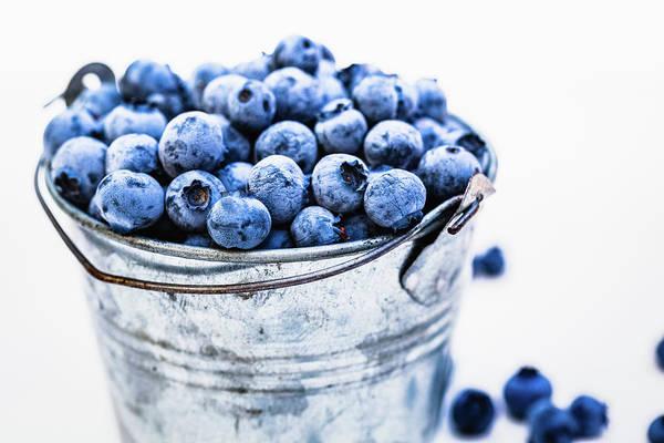 Photograph - Blueberries by Deimagine