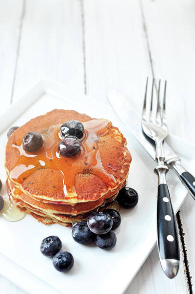 Honey Photograph - Blueberry Pancake by All Rights Reserved @tailortang