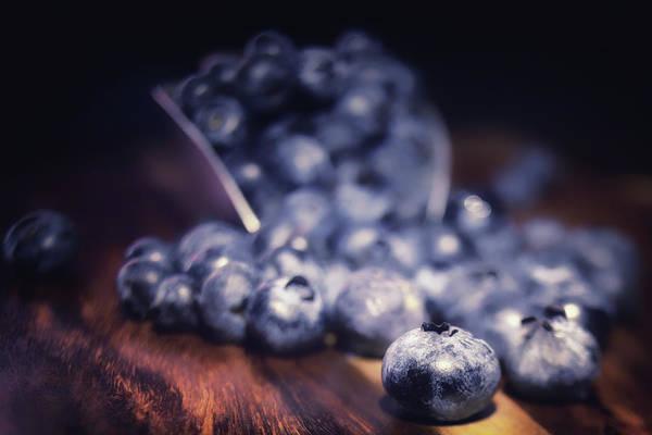 Wall Art - Photograph - Blueberry Spill by Marnie Patchett