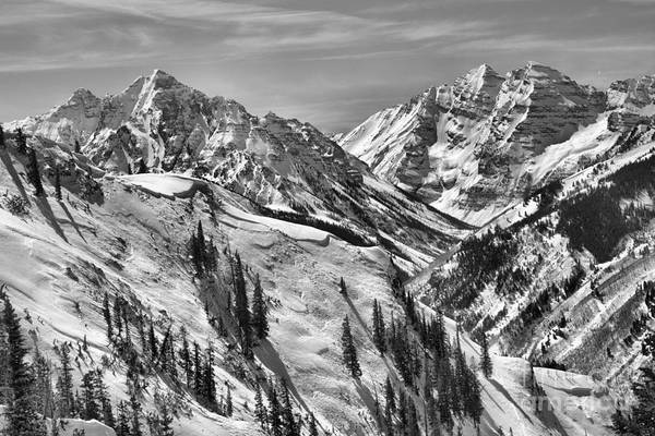 Photograph - Bluebird Skies Over The Bells Black And White by Adam Jewell