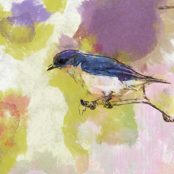 Wall Art - Painting - Bluebird Watercolor Version 2 by Dan Sproul