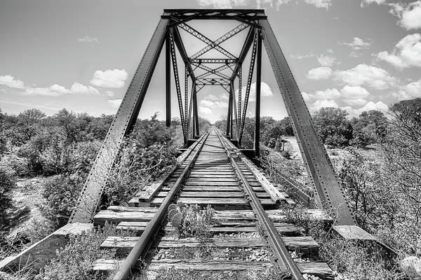 Photograph - Bluebonnet Bridge Black And White by JC Findley