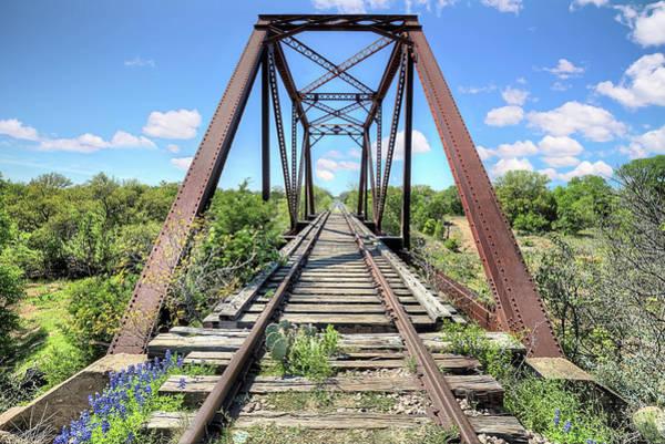 Photograph - Bluebonnet Bridge by JC Findley