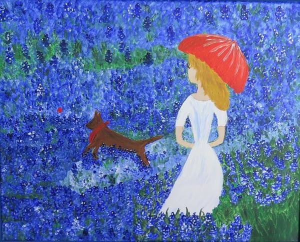 Painting - Bluebonnet Hill by Kimberley Dietrich