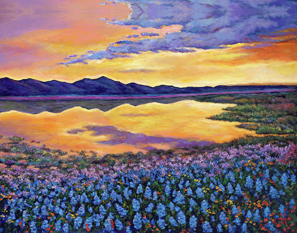 Colorado Landscape Painting - Bluebonnet Rhapsody by Johnathan Harris