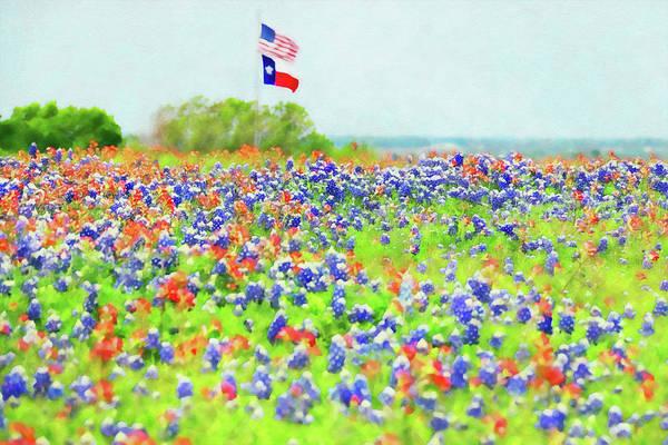 Painting - Bluebonnet Texas - 12 by Andrea Mazzocchetti