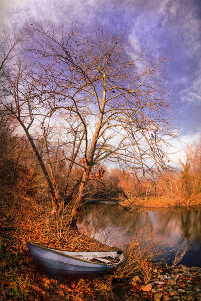 Photograph - Blues At The End Of Autumn At Dawn by Debra and Dave Vanderlaan