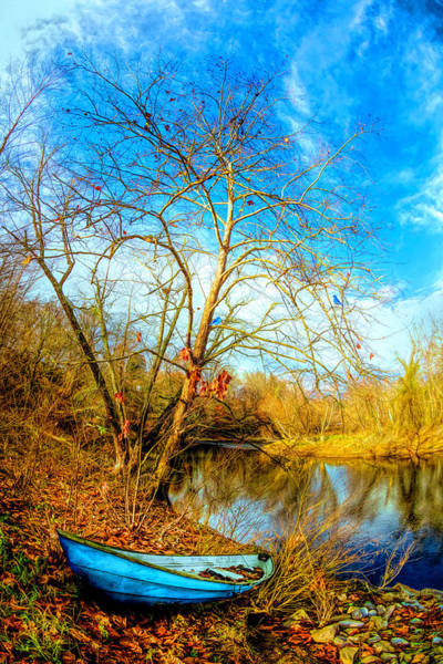 Photograph - Blues At The End Of Autumn by Debra and Dave Vanderlaan