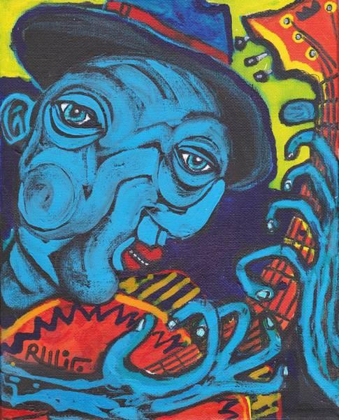 Mixed Media - Blues Dude by Robert Wolverton Jr