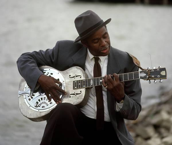Blue Dress Photograph - Blues Guitarist by David Redfern