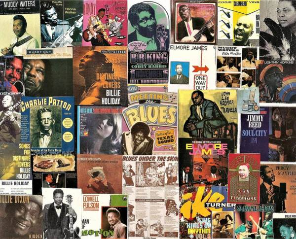 Wall Art - Digital Art - Blues Music Collage 1 by Doug Siegel
