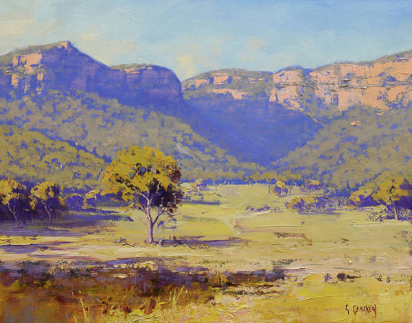 Wall Art - Painting - Bluffs Of The Capertee Valley by Graham Gercken