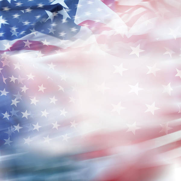 Wall Art - Photograph - Blurred Usa Flag by Les Cunliffe