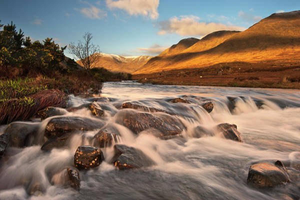 Connemara Photograph - Blurred View Of River Rushing Over Rocks by George Karbus Photography