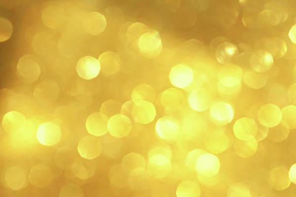 Photograph - Blurry Yellow Light Background by Kamisoka