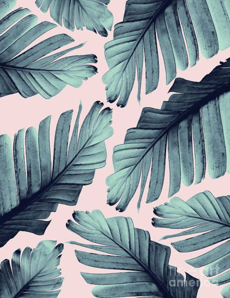 Banana Leaf Mixed Media - Blush Banana Leaves Dream #9 #tropical #decor #art by Anitas and Bellas Art
