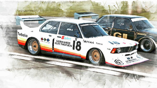 Painting - Bmw 320 1978 - 11 by Andrea Mazzocchetti