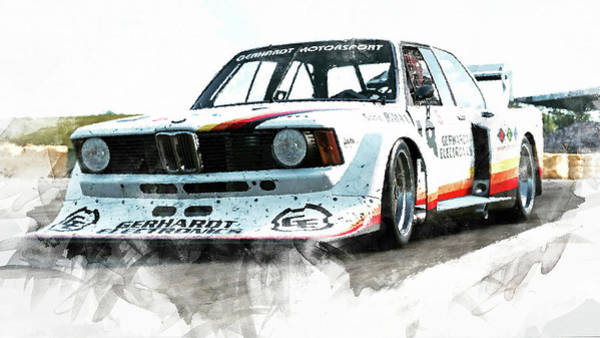 Painting - Bmw 320 1978 - 13 by Andrea Mazzocchetti