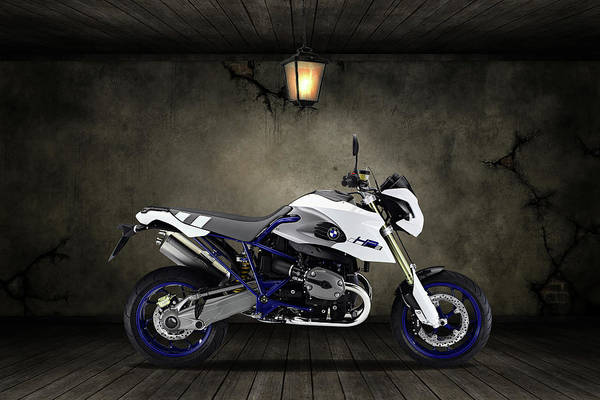 Wall Art - Mixed Media - Bmw Hp2 Sport Old Room by Smart Aviation
