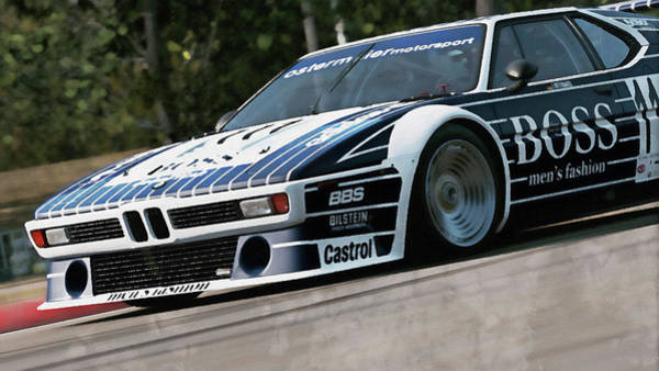 Painting - Bmw M1 - 22 by Andrea Mazzocchetti