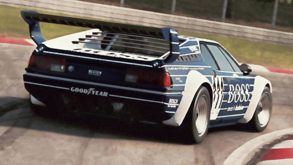 Painting - Bmw M1 - 24 by Andrea Mazzocchetti