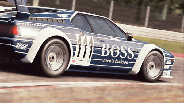 Painting - Bmw M1 - 25 by Andrea Mazzocchetti