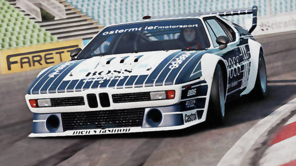 Painting - Bmw M1 - 26 by Andrea Mazzocchetti