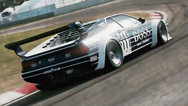 Painting - Bmw M1 - 28 by Andrea Mazzocchetti