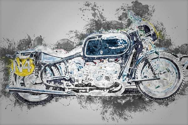 Wall Art - Painting - Bmw Motorbike by ArtMarketJapan