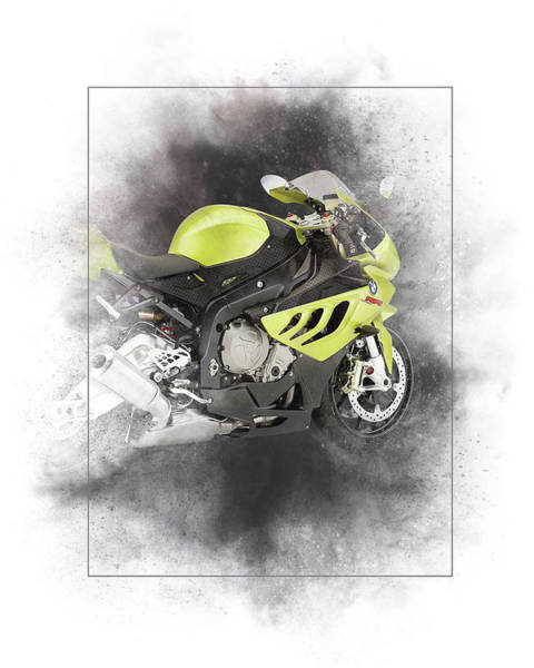 Wall Art - Mixed Media - Bmw S1000r Painting by Smart Aviation