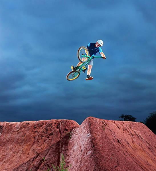 Bmx Photograph - Bmx Stunts by Adrian Weinbrecht