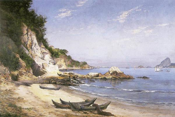 Painting - Boa Viagem Beach, Niteroi by Hipolito Boaventura Caron