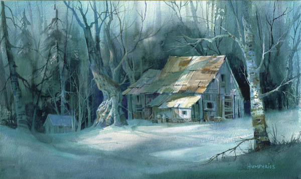 Snow Scene Painting - Boarded Up by Michael Humphries