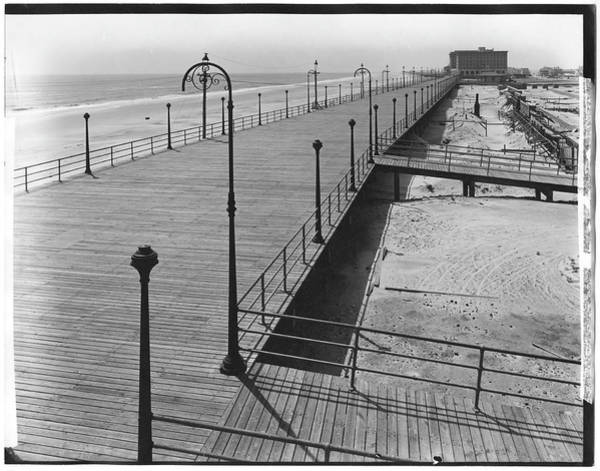New Jersey Photograph - Boardwalk & Atlantic Ocean by The New York Historical Society