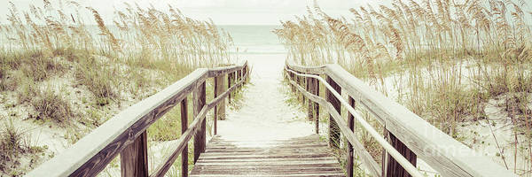 Wall Art - Photograph - Boardwalk Beach Entrance Pensacola Florida Panorama Photo by Paul Velgos