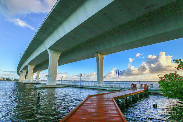Photograph - Boardwalk Bridge View by Tom Claud