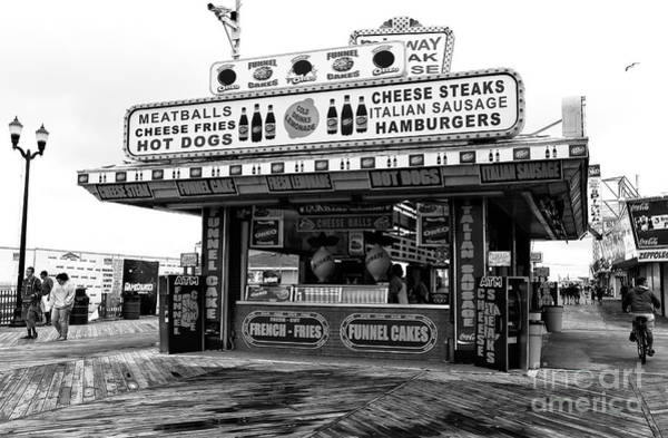 Comfort Photograph - Boardwalk Comfort Food Seaside Heights by John Rizzuto