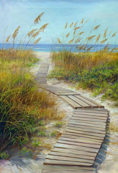 Sea Oats Painting - Boardwalk by Laurie Snow Hein