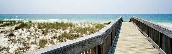 Wall Art - Photograph - Boardwalk Leading Towards A Beach, Bon by Panoramic Images