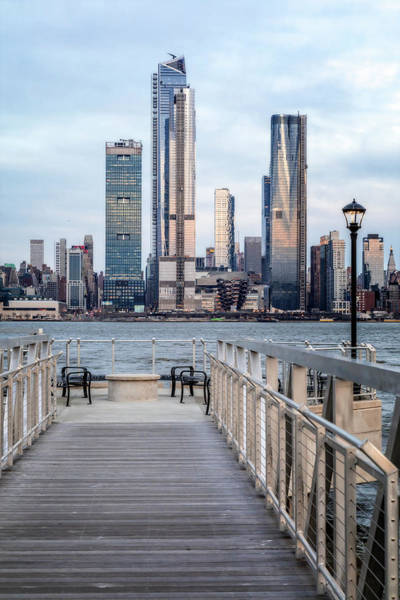 Photograph - Boardwalk To New York City Skyline  by Susan Candelario