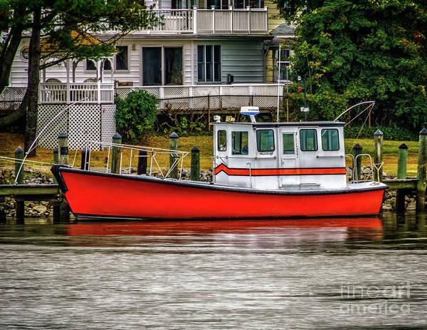 Photograph - Boat Along The Cd Canal by Nick Zelinsky