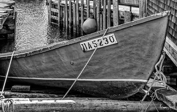 Digital Art - Boat At Fisherman's Cove by Ken Morris